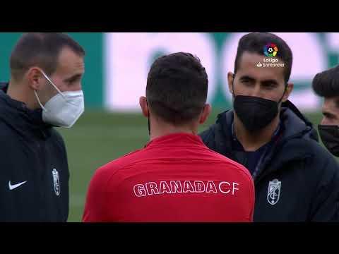 Calentamiento CA Osasuna vs Granada CF