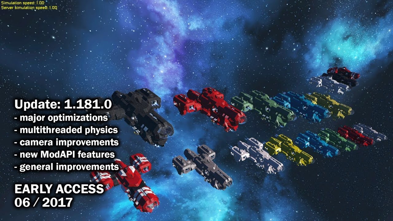 space engineers update major big optimizations. Black Bedroom Furniture Sets. Home Design Ideas