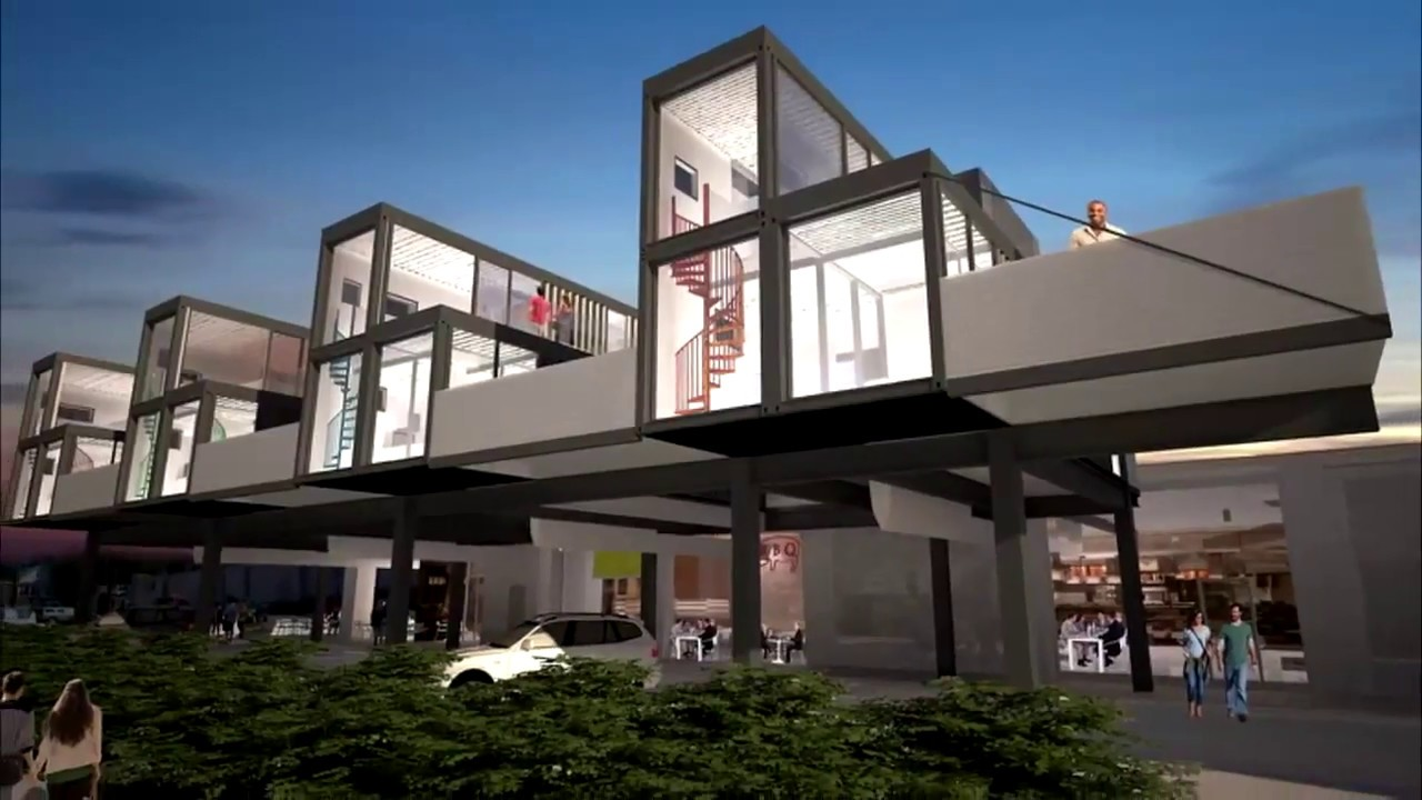 Shipping Container Apartment Building New