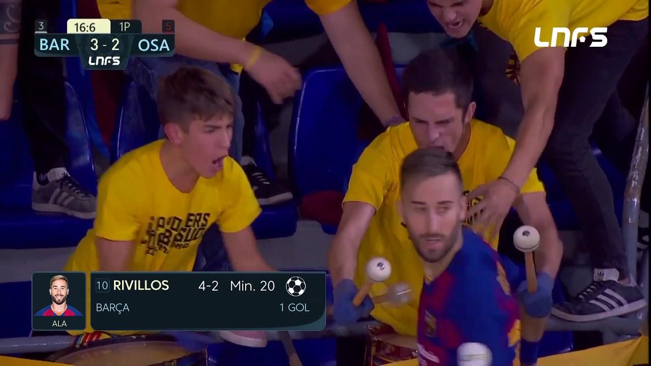 Gol Rivillos (4-2) Barça FS - Osasuna Magna. J10, 1Div. LNFS