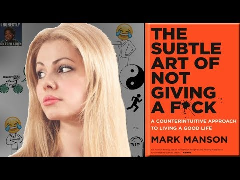 """""""THE SUBTLE ART of NOT GIVING a F*CK,"""" by Mark Manson 