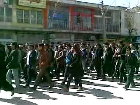 Iran: Anti government Demonstration in Farsan 14 Feb 2014