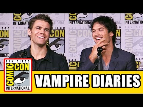 THE VAMPIRE DIARIES Season 8 Comic Con Panel (Part 1) - Ian Somerhalder, Kat Graham, Paul Wesley