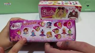 Barbie kinder surprise chocolate eggs + WINX Club KINDER SURPRISE EGGS