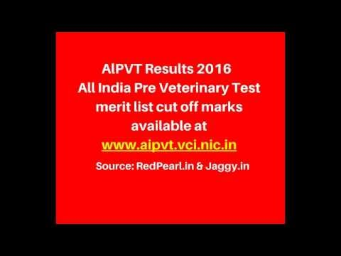 AlPVT Results 2016 | All India Pre Veterinary Test merit list | RedPearl
