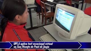UPLA aplica test vocacional virtual en San Vicente de Paúl 1