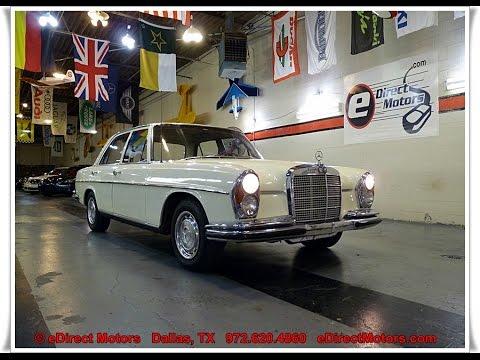 1966 Mercedes Benz 250se Edirect Motors Youtube