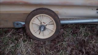 Make Retractable Wheels For A Chicken Tractor
