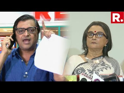 Arnab Goswami Confronts Aparna Sen At Her Media Briefing On The Open 'Intolerance' Letter To PM Modi