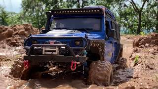 RC car : Jeep Wrangler Rubicon JK  Mud Driving(After rain) #15.