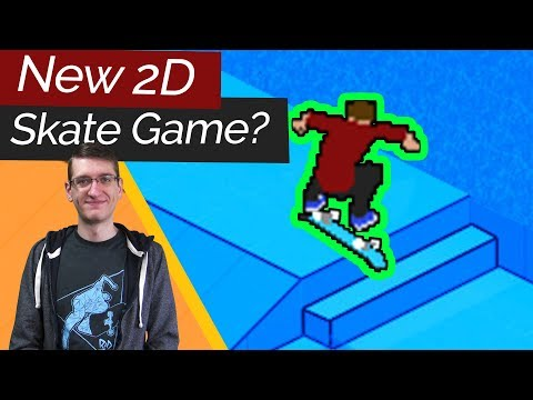 Brand New 2D Skateboarding Game? SkateRide Gameplay (PC)