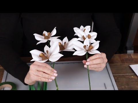 How-To: Paper Cymbidium Orchid
