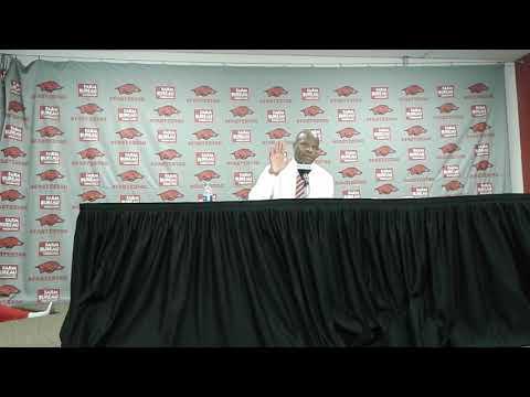#Arkansas Head Coach Mike Anderson #Florida Post-Game w/Media#OTH🎤👀🏀💨