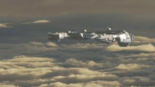 ufo in the clouds russia cgi