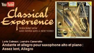 André Chailleux : Andante et allegro pour saxophone alto et piano : Assez lent, Allegro