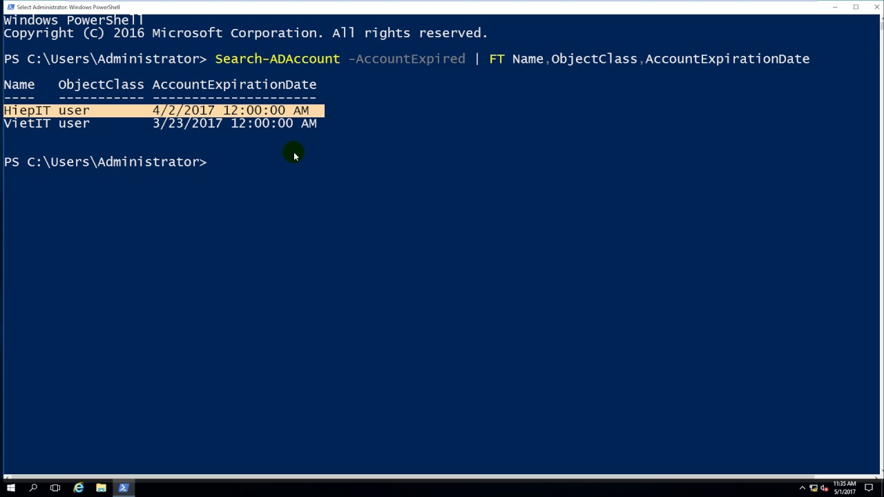 User password expiration powershell - Using Powershell Get All Users Are Expired In Domain