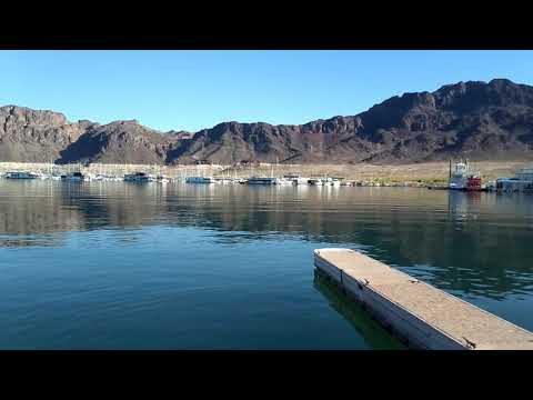 The marina at Lake Mead outside Las Vegas