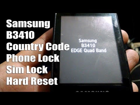 Samsung B3410 Phone lock , Sim Lock , Country Code & Hard Reset Code New Trick