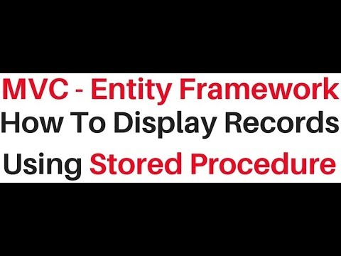calling stored procedure in c# mvc entity framework