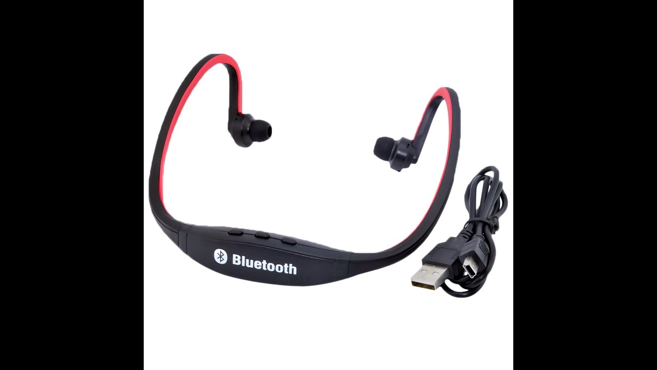 wireless sports 4 0 bluetooth headset stereo under 10 youtube. Black Bedroom Furniture Sets. Home Design Ideas