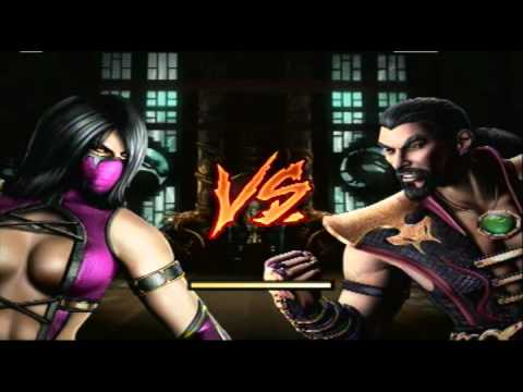 Mortal Kombat 9 - Flesh Pits Mileena & Unmasked Kitana ...