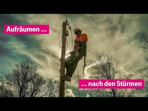 Social Media Post: Nach dem Sturm: Instandsetzung von oberirdischen Leitungen