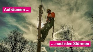Nach dem Sturm: Instandsetzung von oberirdischen Leitungen