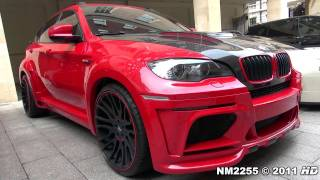 Hamann BMW X6M Tycoon EVO Loud Sound - Start and Accelerations!(Full HD 1080p Video By NM2255: Red BMW X6M Tycoon EVO twin turbo tuned by Hamann, listen to its loud sound with start up and lots of full throttle ..., 2011-07-17T15:14:39.000Z)