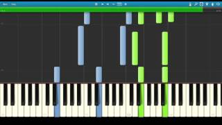 Zedd - Illusion feat Echosmith: Synthesia Piano Tutorial