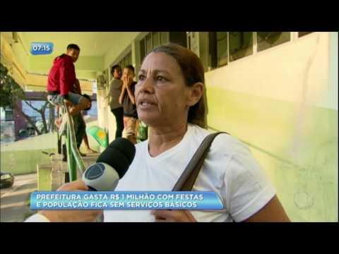 Prefeitura de cidade mineira gasta R$ 1 milhão em festa e não oferece serviços básicos