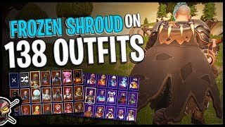 Frozen Shroud Back Bling on 138 Outfits | Ragnarok - Fortnite Cosmetics