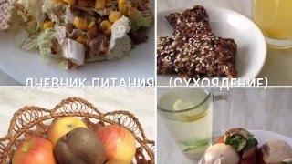 Дневник питания /Великий пост/ Сухоядение/ неделя 1