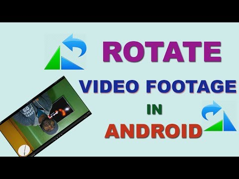 How to ROTATE VIDEOS & SAVE On Android Free- Easy, Simple TUTORIAL