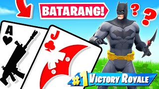 WIN THE BATARANG!! *21* Card Game for LOOT! (Fortnite)