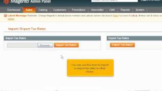 How to change tax rates in Magento Commerce - Magneto Tutorial