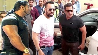 Salman khan Macho ENTRY With Bodyguards At Race 3 Trailer Launch