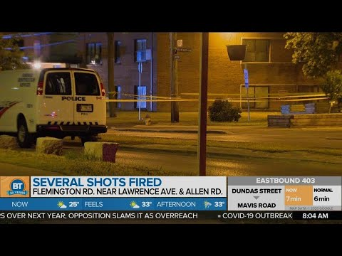 Suspects sought after shots fired near North York apartment