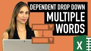 Realistic Case: Dependent Drop-Down Lists in Excel with Multiple Words & Spaces in  1st List