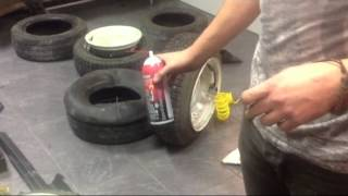видео Как одеть резину на разварки