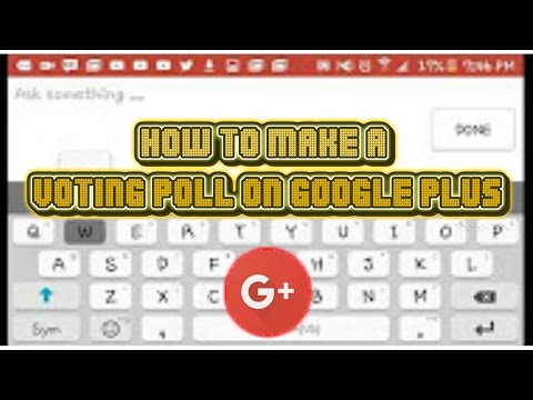 How To Make A Voting Poll on Google+