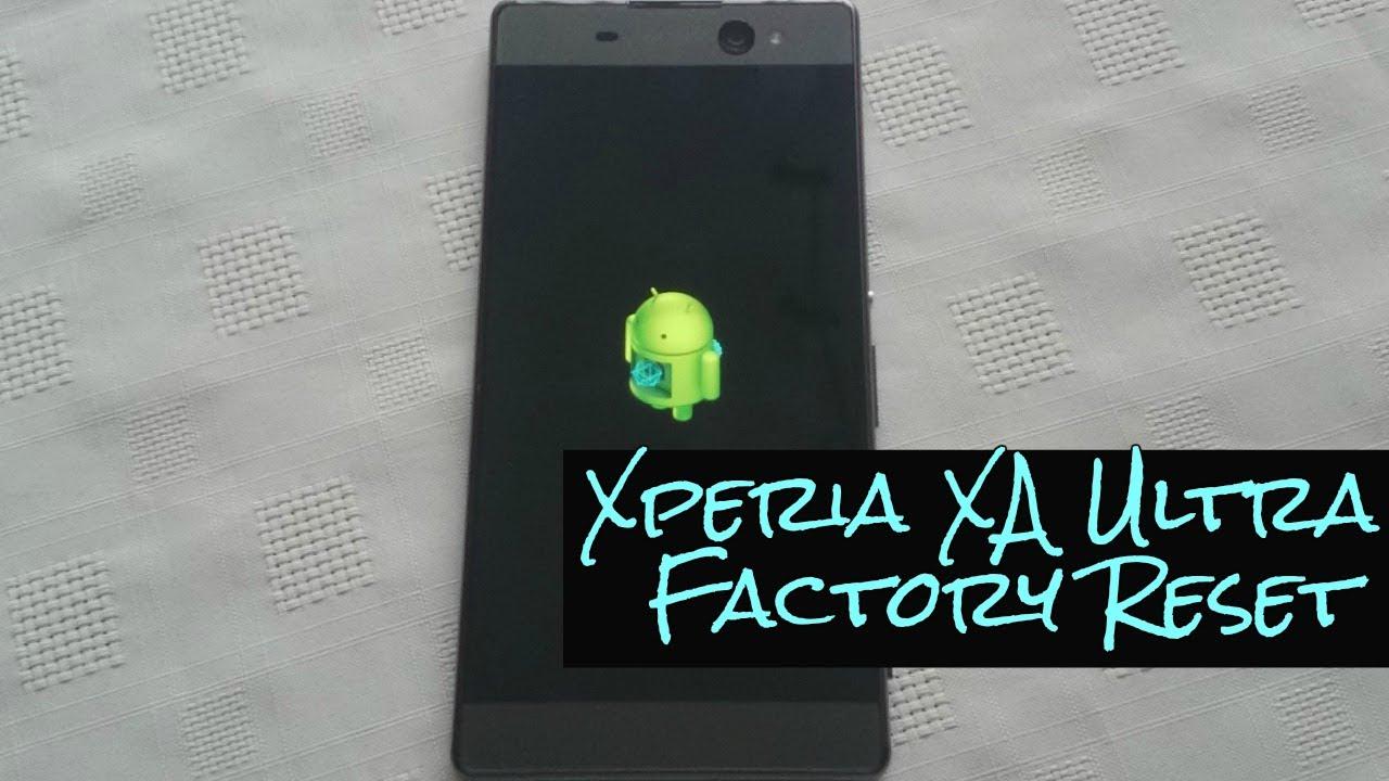 how to factory reset xperia xa2