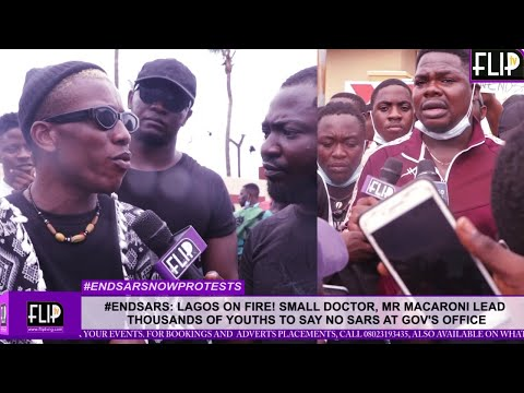 #ENDSARS:  LAGOS ON FIRE! SMALL DOCTOR, MR MACARONI LEAD THOUSANDS OF YOUTHS TO PROTEST