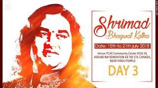 Shrimad Bhagwat Katha || Day -3 || Edmonton, Canada || Shri Devkinandan Thakur Ji Maharaj