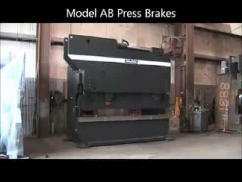 Standard Industrial Model AB Press Brake Operation