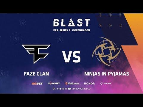 [RU] FaZe vs NiP | Dust2 | BLAST Pro Series: Copenhagen 2019