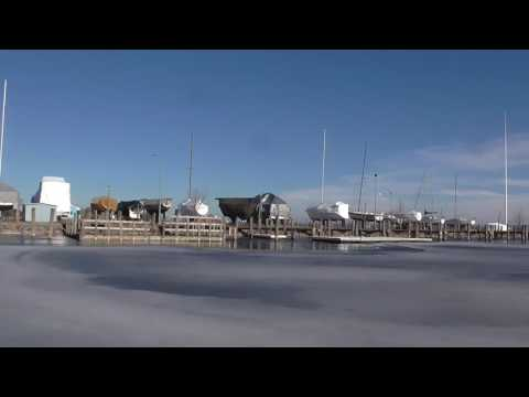 Alpena Michigan The Boat Harbor, Thompson's Pier and Lake Hu