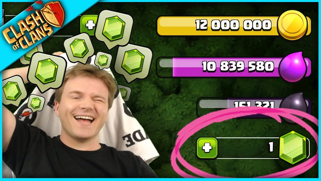 I'M CRYING ▶️ Clash of Clans ◀️ lulu spent all my gems ;(