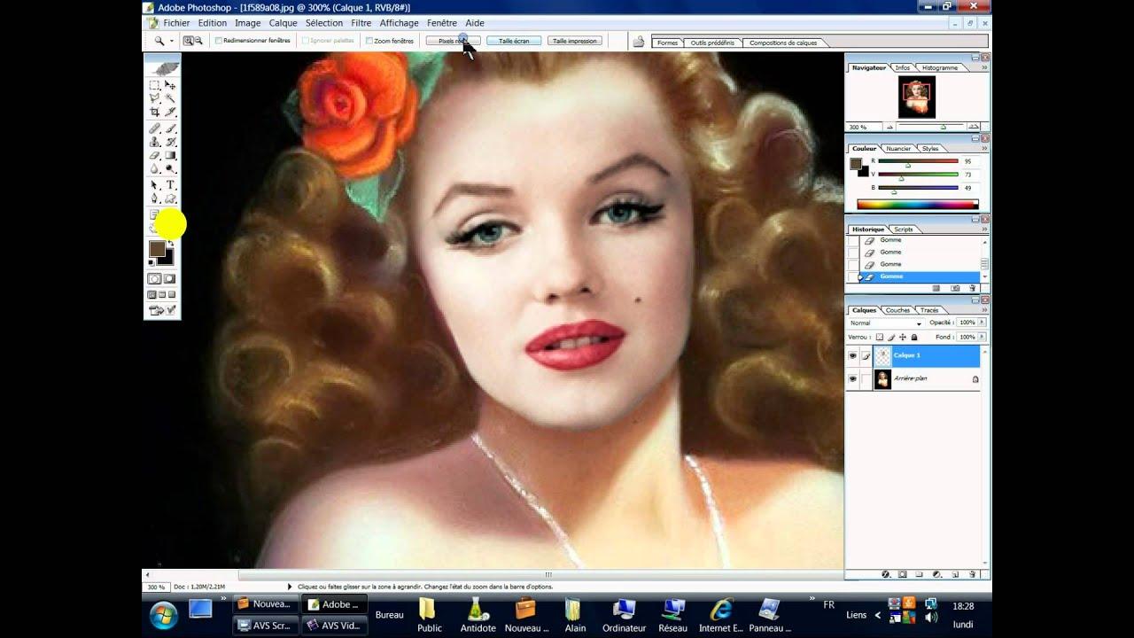 Photoshop basics andy warhol silk screen   andy warhol.