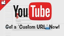 How to Get a Custom URL On Youtube? (really easy)