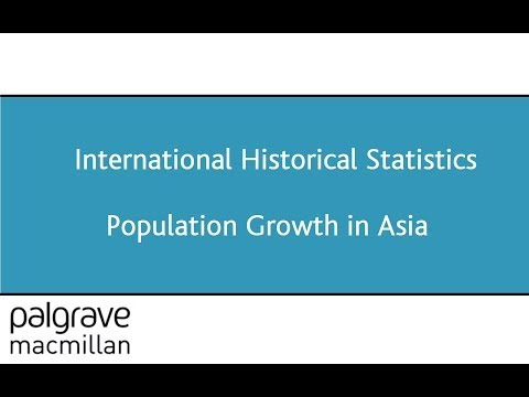 Animated Chart of Population Growth in Asia - from International Historical Statistics